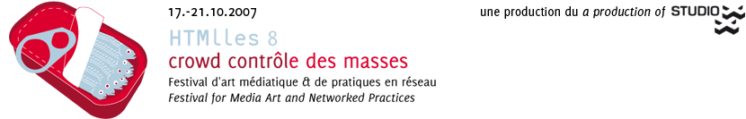 HTMlles et Studio XX présentent la 8e édition de leur Festival d'art médiatique & de pratiques en réseau